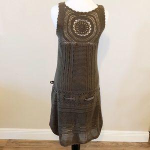 Athleta Dresses - Athleta Medium Brown Knit Drop Waist Hem Dress